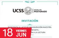 Escuela de Postgrado: INVITACIÓN AL PÚBLICO EN GENERAL Y COMUNIDAD UCSS A LA CEREMONIA DE INAUGURACIÓN DE LA MAESTRÍA EN LITERATURA
